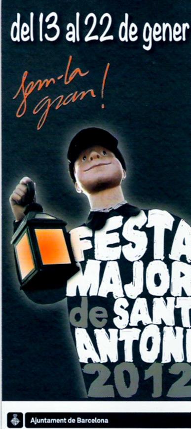 Protada del programa de mà de la Festa Major de Sant Antoni