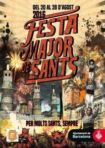 Cartell de la Festa Major de Sants